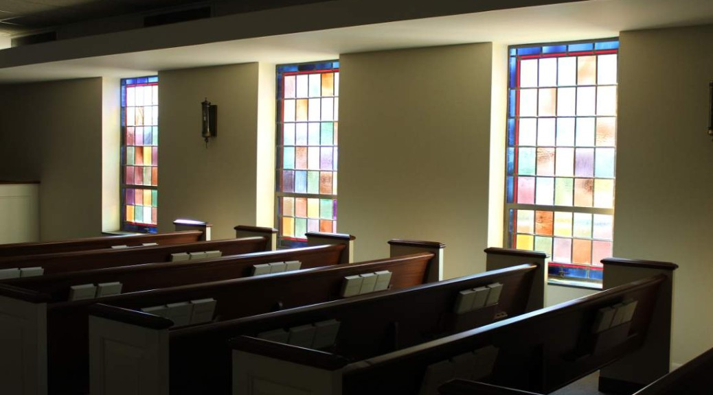 Chapel and stained glass windows