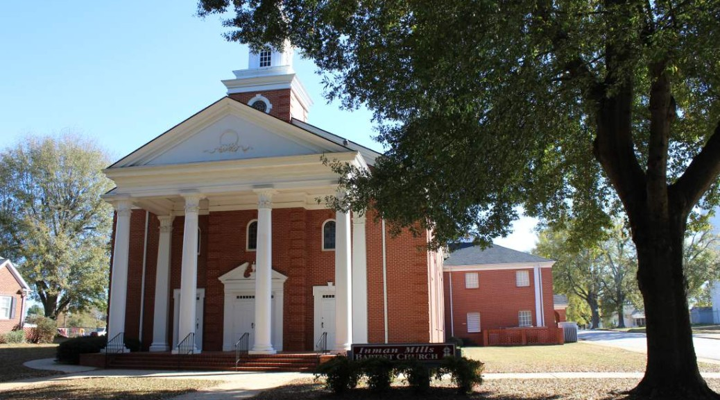 Front of Inman Mills Baptist Church